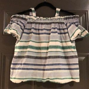 Joe Fresh Linen Off Shoulder Blouse